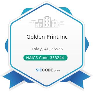 Golden Print Inc - NAICS Code 333244 - Printing Machinery and Equipment Manufacturing