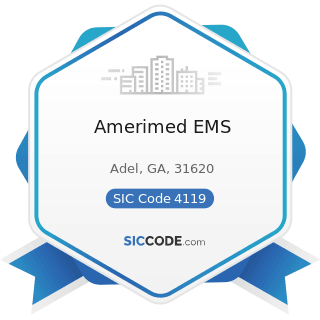 Amerimed EMS - SIC Code 4119 - Local Passenger Transportation, Not Elsewhere Classified