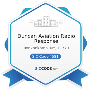 Duncan Aviation Radio Response - SIC Code 4581 - Airports, Flying Fields, and Airport Terminal...