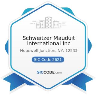 Schweitzer Mauduit International Inc - SIC Code 2621 - Paper Mills