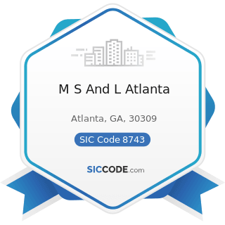 M S And L Atlanta - SIC Code 8743 - Public Relations Services