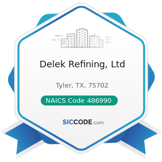Delek Refining, Ltd - NAICS Code 486990 - All Other Pipeline Transportation