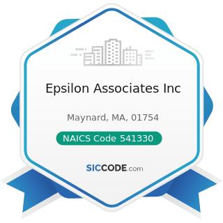 Epsilon Associates Inc - NAICS Code 541330 - Engineering Services