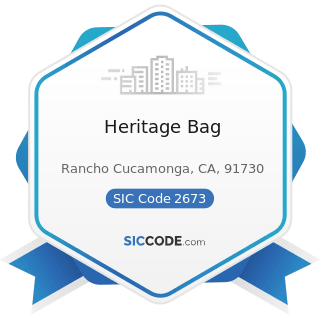 Heritage Bag - SIC Code 2673 - Plastics, Foil, and Coated Paper Bags