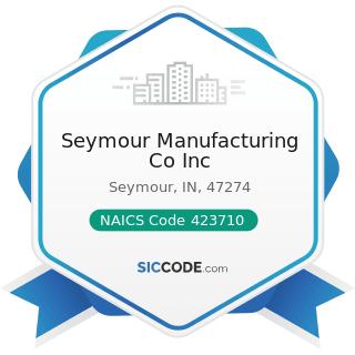 Seymour Manufacturing Co Inc - NAICS Code 423710 - Hardware Merchant Wholesalers