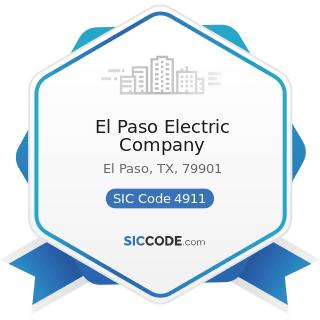 El Paso Electric Company - SIC Code 4911 - Electric Services