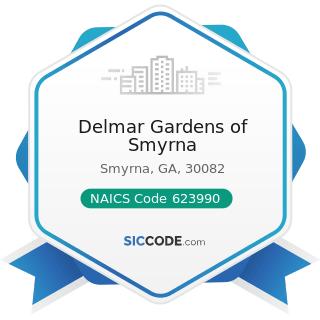 Delmar Gardens of Smyrna - NAICS Code 623990 - Other Residential Care Facilities