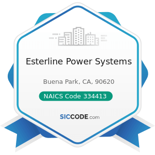 Esterline Power Systems - NAICS Code 334413 - Semiconductor and Related Device Manufacturing