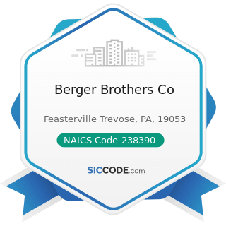 Berger Brothers Co - NAICS Code 238390 - Other Building Finishing Contractors