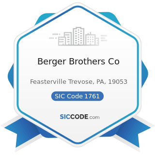 Berger Brothers Co - SIC Code 1761 - Roofing, Siding, and Sheet Metal Work