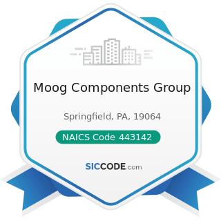 Moog Components Group - NAICS Code 443142 - Electronics Stores
