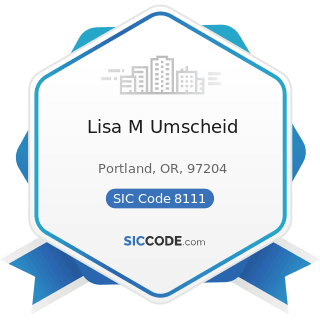 Lisa M Umscheid - SIC Code 8111 - Legal Services