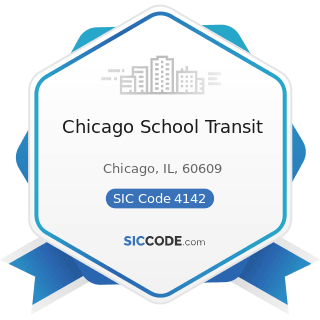 Chicago School Transit - SIC Code 4142 - Bus Charter Service, except Local