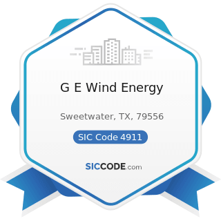 G E Wind Energy - SIC Code 4911 - Electric Services