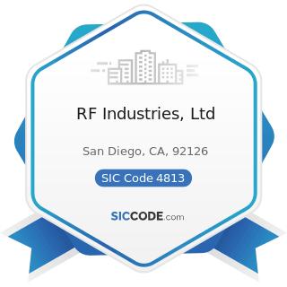 RF Industries, Ltd - SIC Code 4813 - Telephone Communications, except Radiotelephone