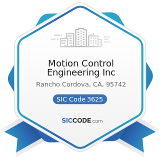 Motion Control Engineering Inc - SIC Code 3625 - Relays and Industrial Controls