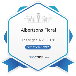 Albertsons Floral - SIC Code 5992 - Florists