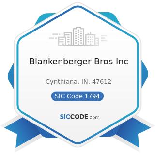 Blankenberger Bros Inc - SIC Code 1794 - Excavation Work