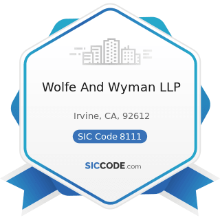 Wolfe And Wyman LLP - SIC Code 8111 - Legal Services