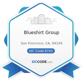 Blueshirt Group - SIC Code 8743 - Public Relations Services