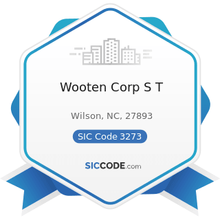 Wooten Corp S T - SIC Code 3273 - Ready-Mixed Concrete