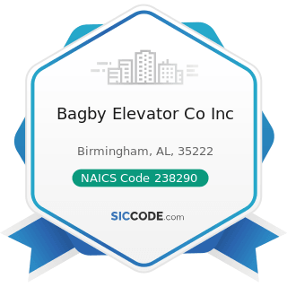 Bagby Elevator Co Inc - NAICS Code 238290 - Other Building Equipment Contractors
