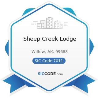 Sheep Creek Lodge - SIC Code 7011 - Hotels and Motels