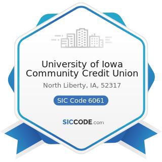 University of Iowa Community Credit Union - SIC Code 6061 - Credit Unions, Federally Chartered