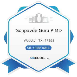 Sonpavde Guru P MD - SIC Code 8011 - Offices and Clinics of Doctors of Medicine