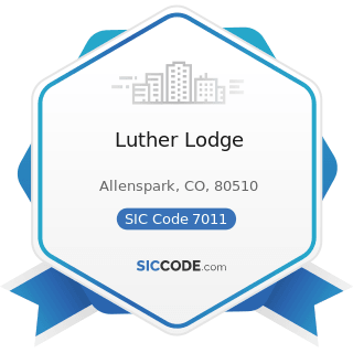 Luther Lodge - SIC Code 7011 - Hotels and Motels