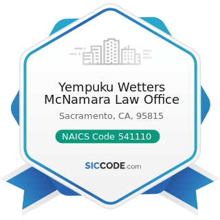 Yempuku Wetters McNamara Law Office - NAICS Code 541110 - Offices of Lawyers