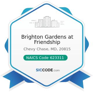 Brighton Gardens at Friendship - NAICS Code 623311 - Continuing Care Retirement Communities