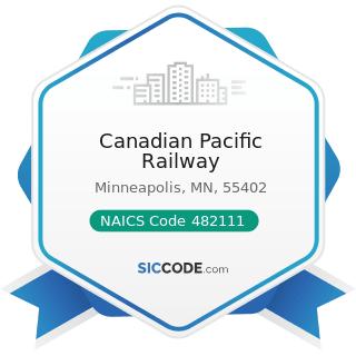 Canadian Pacific Railway - NAICS Code 482111 - Line-Haul Railroads