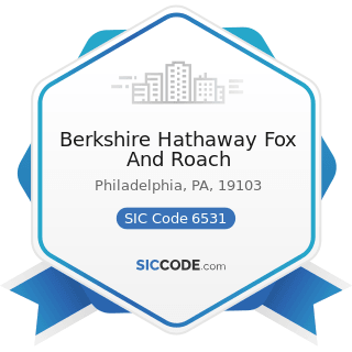 Berkshire Hathaway Fox And Roach - SIC Code 6531 - Real Estate Agents and Managers