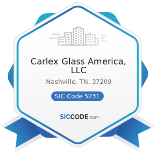 Carlex Glass America, LLC - SIC Code 5231 - Paint, Glass, and Wallpaper Stores