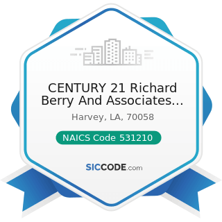 CENTURY 21 Richard Berry And Associates Inc - NAICS Code 531210 - Offices of Real Estate Agents...