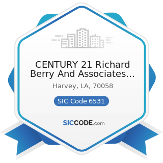 CENTURY 21 Richard Berry And Associates Inc - SIC Code 6531 - Real Estate Agents and Managers