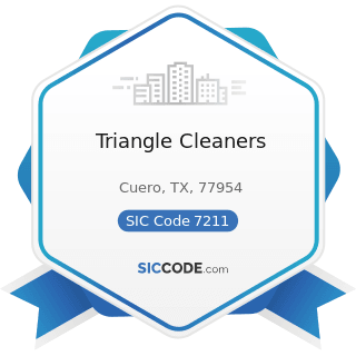 Triangle Cleaners - SIC Code 7211 - Power Laundries, Family and Commercial