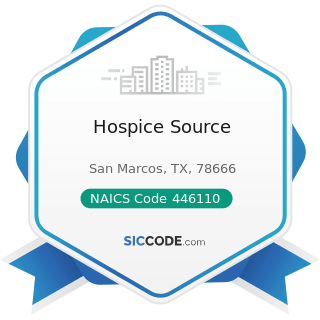 Hospice Source - NAICS Code 446110 - Pharmacies and Drug Stores