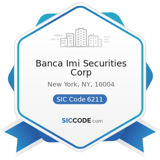 Banca Imi Securities Corp - SIC Code 6211 - Security Brokers, Dealers, and Flotation Companies