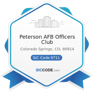 Peterson AFB Officers Club - SIC Code 9711 - National Security