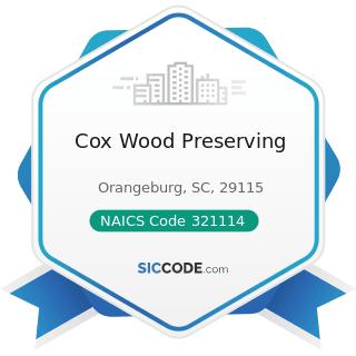 Cox Wood Preserving - NAICS Code 321114 - Wood Preservation