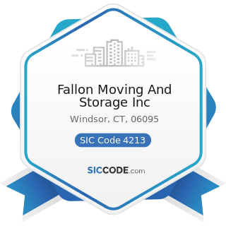 Fallon Moving And Storage Inc - SIC Code 4213 - Trucking, except Local