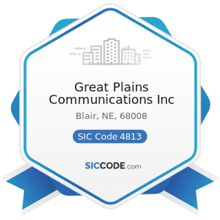 Great Plains Communications Inc - SIC Code 4813 - Telephone Communications, except Radiotelephone