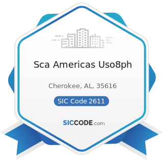 Sca Americas Uso8ph - SIC Code 2611 - Pulp Mills