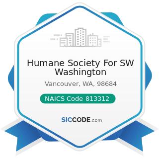 Humane Society For SW Washington - NAICS Code 813312 - Environment, Conservation and Wildlife...