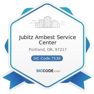 Jubitz Ambest Service Center - SIC Code 7538 - General Automotive Repair Shops