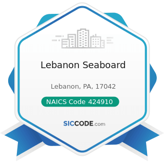Lebanon Seaboard - NAICS Code 424910 - Farm Supplies Merchant Wholesalers
