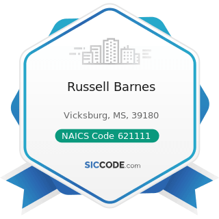 Russell Barnes - NAICS Code 621111 - Offices of Physicians (except Mental Health Specialists)