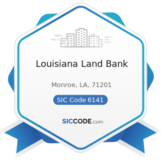 Louisiana Land Bank - SIC Code 6141 - Personal Credit Institutions